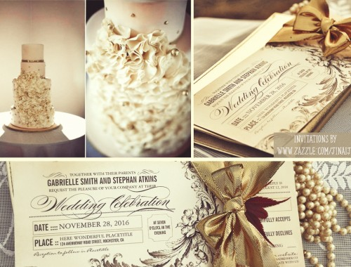vintage wedding tickets wedding invitations