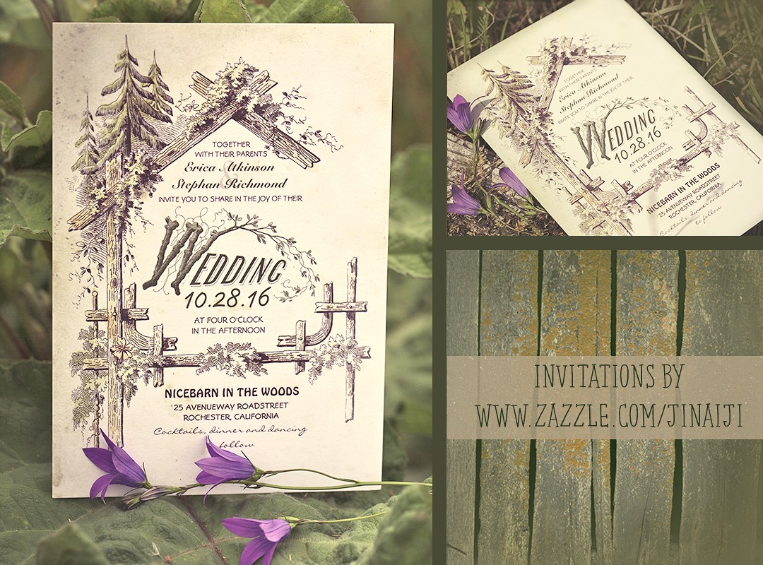 RUSTIC FLORAL MASON JAR WEDDING INVITATION NEED WEDDING IDEA