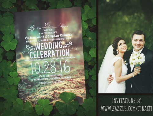 forest wedding invitations