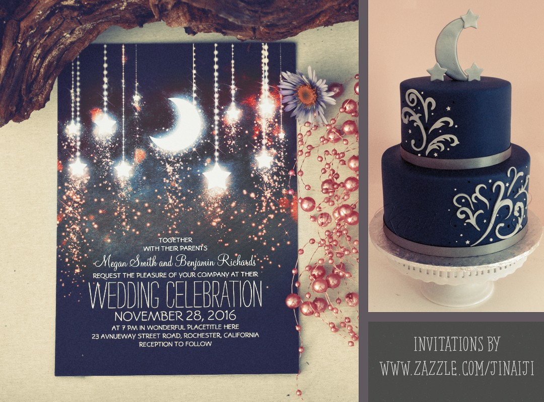 Romantic Moon And Stars Wedding Invitations Need Wedding Idea