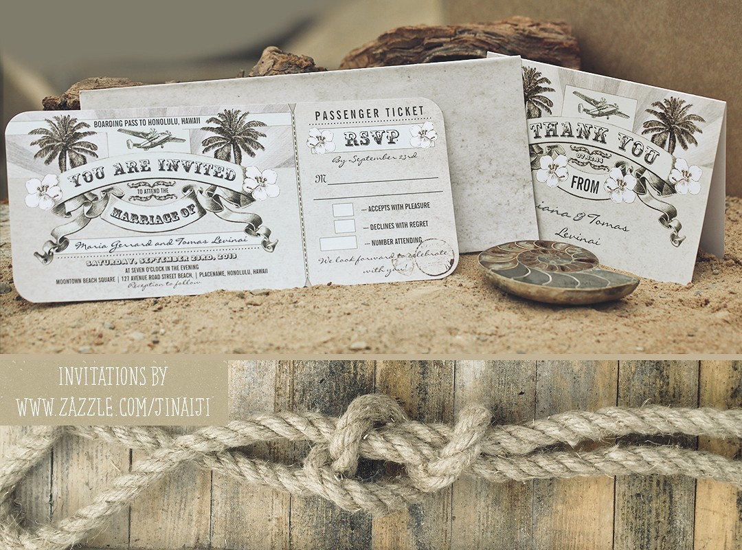 Nautical Wedding Tickets With Rsvp