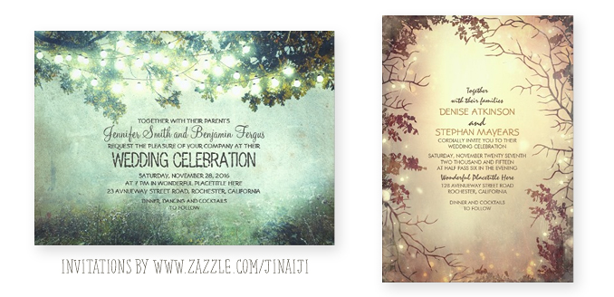 Forest Wedding Invitation NEED WEDDING IDEA