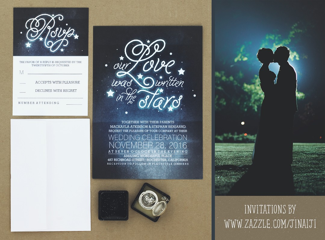 OUR LOVE WAS WRITTEN IN THE STARS WEDDING INVITES NEED WEDDING IDEA