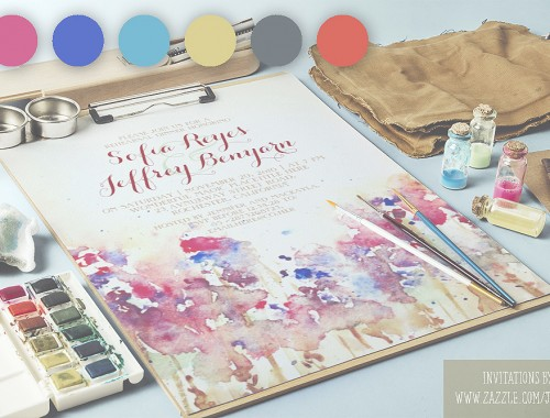 wedding colors and invitations