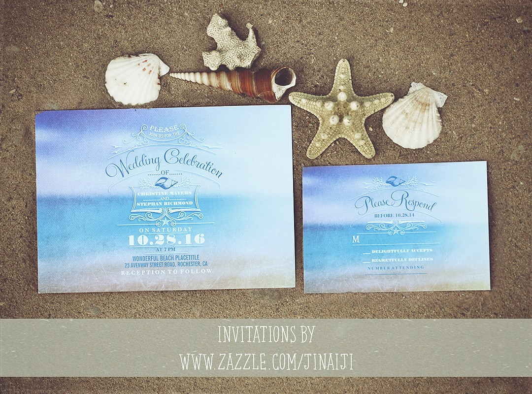 5 Ideas For A Great Beach Themed Wedding In Puglia: BEACH WEDDING INVITATIONS