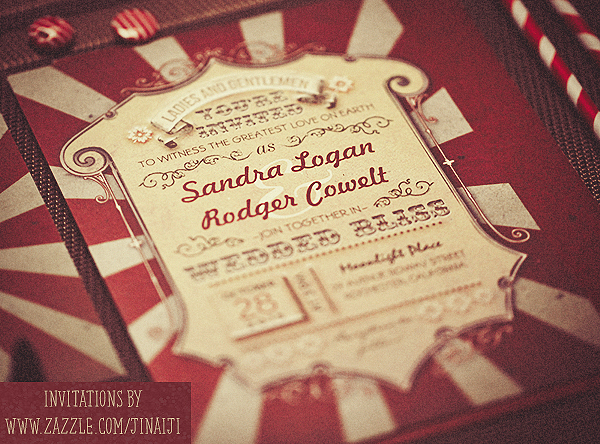 Carnival Wedding Invitations NEED WEDDING IDEA