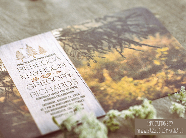 forest wedding invites