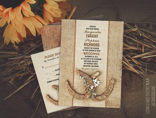 horseshoe wedding invitations
