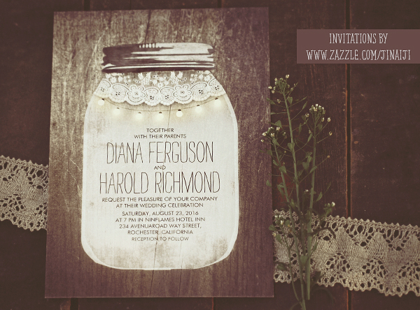 mason jar and string lights wedding invitations  need wedding idea ?, Wedding invitations