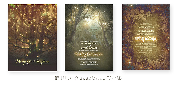 rustic forest wedding invitations