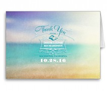 thank you cards beach wedding
