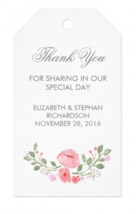thank you tags with watercolor flowers