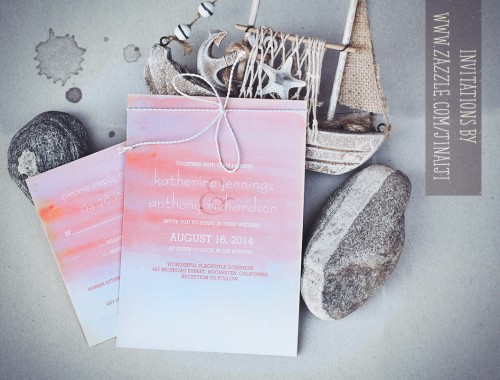 watercolor wedding invitations swash