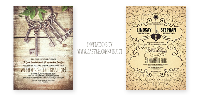 Lock and key wedding invitations need wedding idea skeleton keys and lock wedding invites stopboris Choice Image