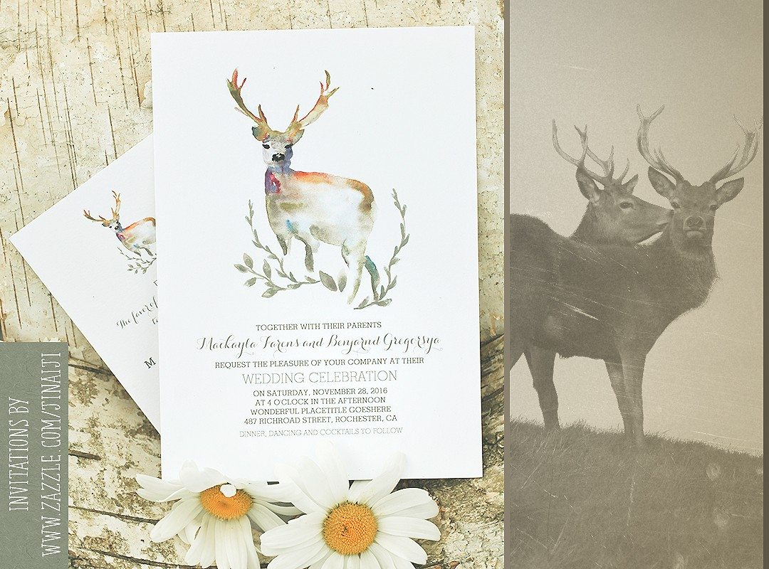 Deer Wedding Invitation